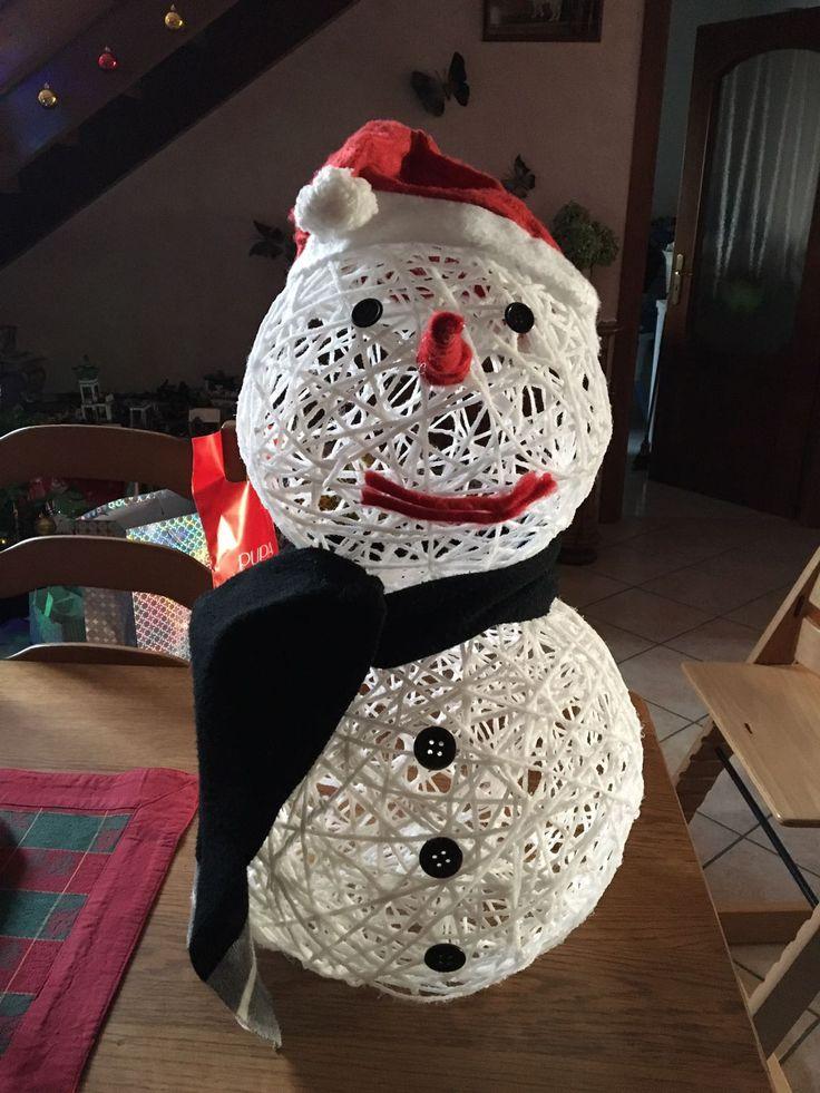 Pupazzo di neve con lana ⛄️