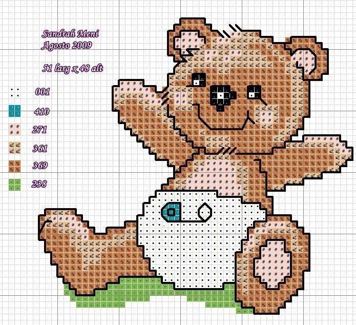 Resultado de imagen para graficos ponto cruz bebe