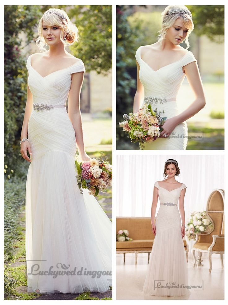 Cap Sleeves Layers of Soft Ruching Wedding Dresses http://www.ckdress.com/cap-sleeves-layers-of-soft-ruching-wedding-  dresses-p-2047.html  #wedding #dresses #dress #lightindream #lightindreaming #wed #clothing   #gown #weddingdresses #dressesonline #dressonline #bride