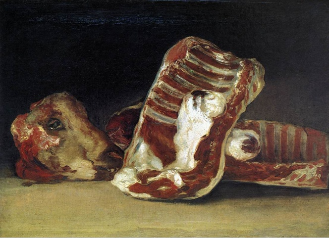 Francisco Goya, A Butcher's Counter, 1810-12, oil on canvas, 45 x 62 cm (Musée du Louvre, Paris)