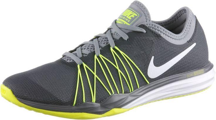 #Nike #Dual #Fusion #TR #HIT #Fitnessschuhe #Damen #dunkelgrau/neongelb -