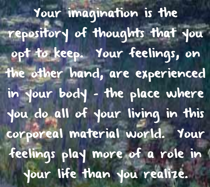 I prefer Gregg Braden's explanation on thoughts, feelings and emotions