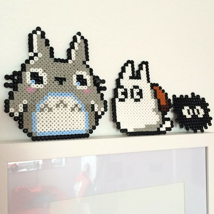 Herzenssachen Bügelperlen Totoro ironing beads