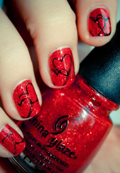red nails | Sexy Red Nail Designs : Red Nail Art For Short Nails
