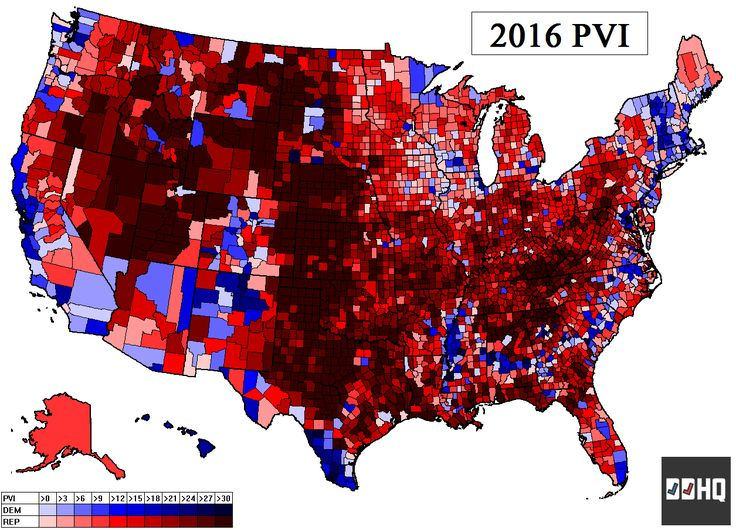 04/10/17 | Cook Political Report- Partisan Voter Index (PVI) for Congressional Districts.
