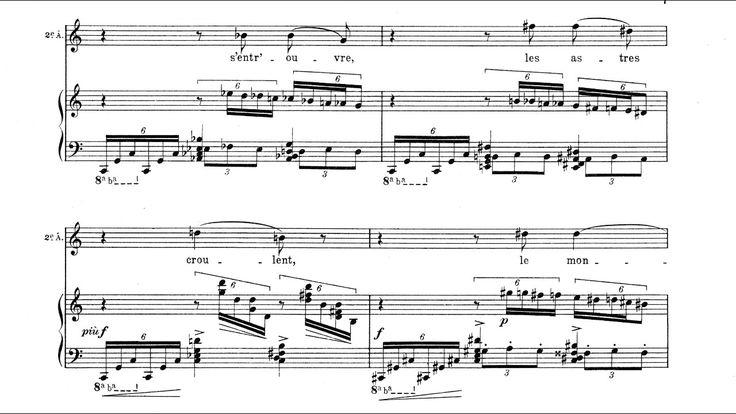 Olivier Messiaen - La Mort du Nombre for Soprano, Tenor, Violin and Piano (1929) [Score-Video] - YouTube