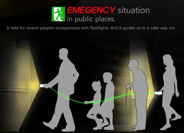 Emergency Flashlight, designed by Kyubaek Kim and Minhee Jung: Grab me on the way out. #Emergency #Flashlight