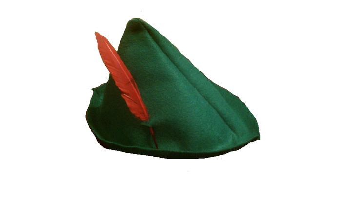 How to make Peter Pan hat. This was super easy to do. I did not sew I used fabric glue.