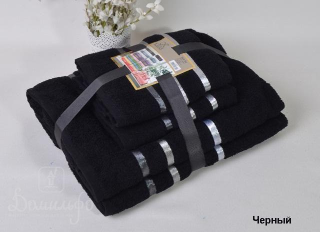 Набор полотенец BALE черный от Karna (Турция) - купить по низкой цене в интернет магазине Домильфо