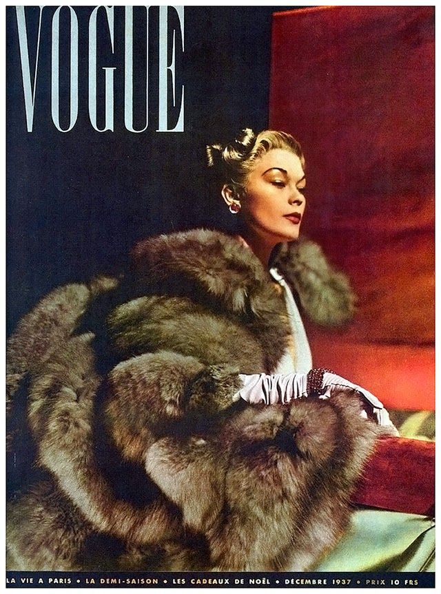 Vogue covers from Christmas past. December Vogue 1937.