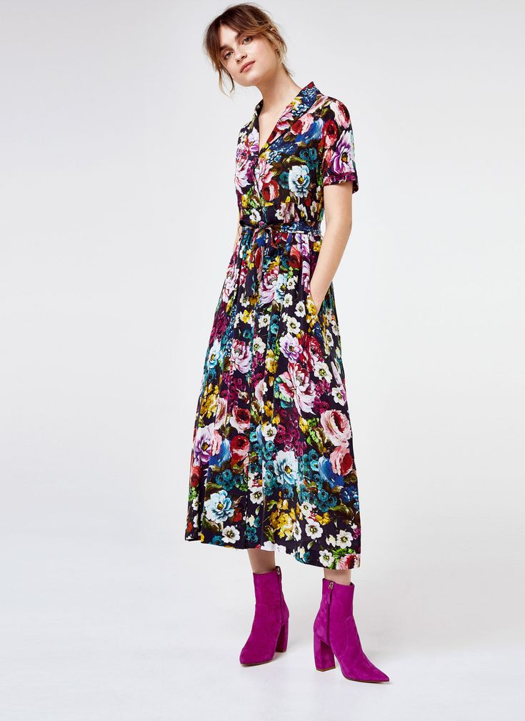 Uterqüe Germany Product Page - New in - View all - Floral shirt dress - 199