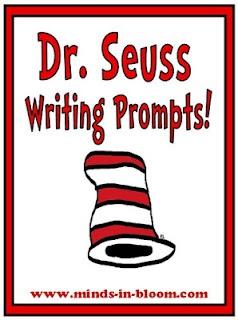 20 fun Dr. Seuss themed writing prompts! By Rachel Lynette of www.minds-in-bloom.com