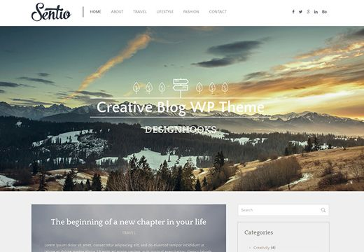 Today's Freebies :  Sentio will help you represent your blog, portfolio, creative agency, business site in the most beautiful and elegant way.