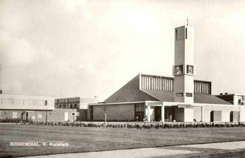 "Church ""Heilig Kruis"" (1963-64) in Roosendaal, the Netherlands, by Taen en Nix"