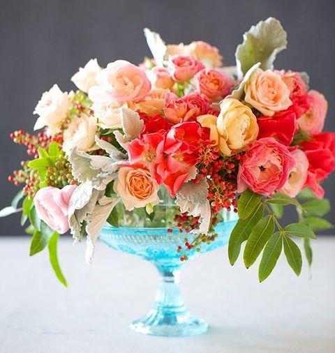 A wedding centerpiece is typically flower arrangement
