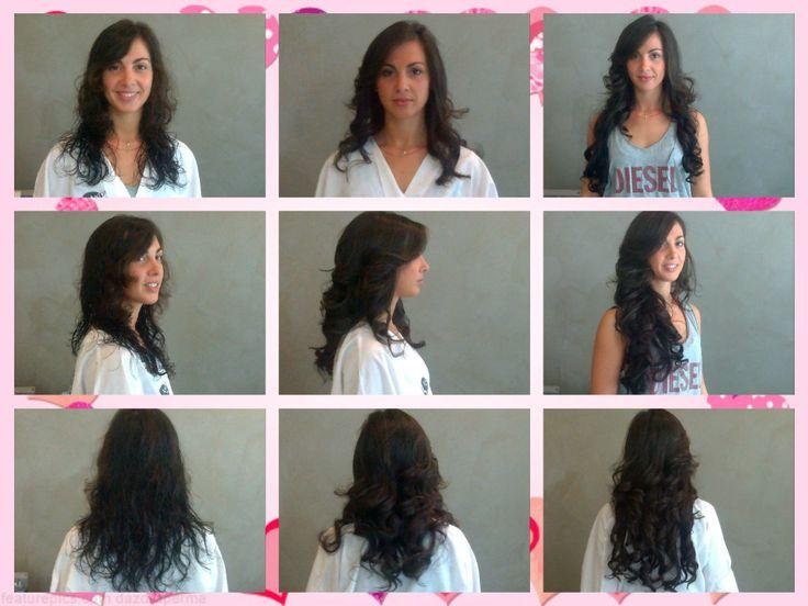Questa è una semplice piega ad Onde + allungamento con Hairdress!