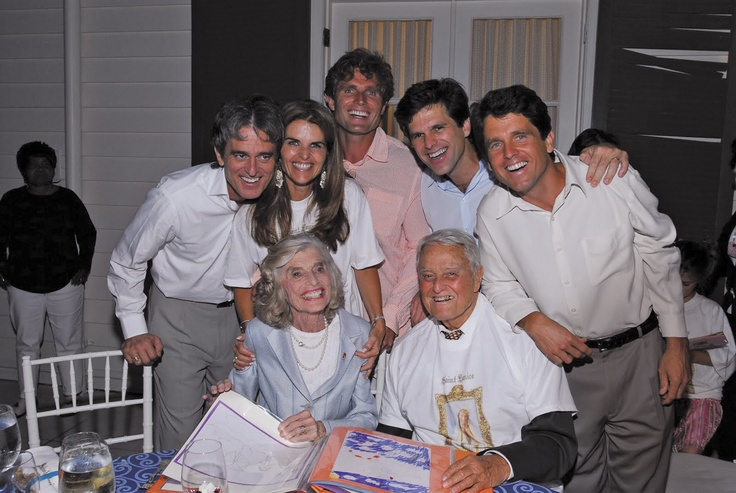 Eunice Kennedy Shriver Celebrates Her 85th Birthday With Her Family (L-R) Bobby, Maria, Anthony, Tim, Mark And Husband Sargent Shriver