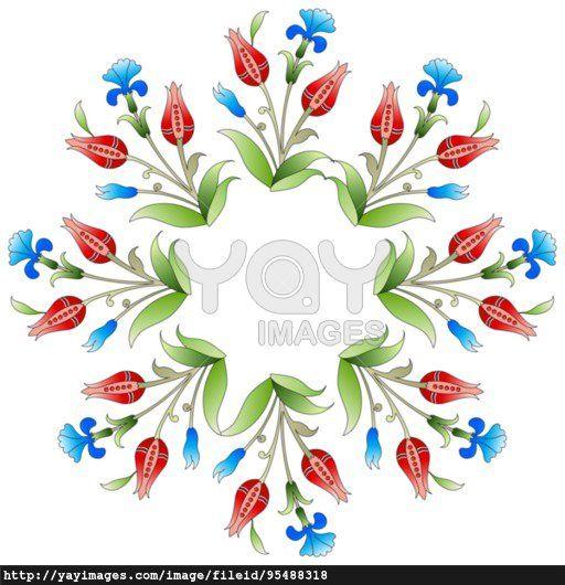 Ottoman art flowers twenty five