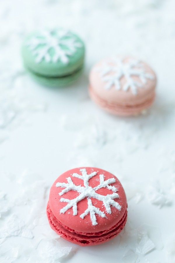 Wintery Macarons Recipe — Dishmaps