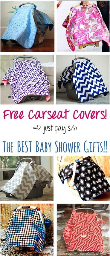 FREE Super Cute Carseat Canopy Cover! {just pay s/h} - these covers make the BEST Baby Shower gifts!! Pick your favorite pattern - chevron, floral, and more! | TheFrugalGirls.com