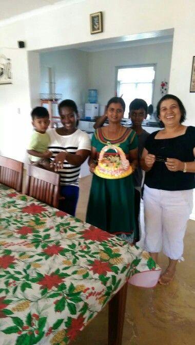 Felcy's birthday with Susan, Jane and children