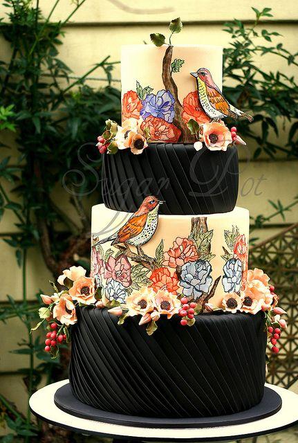 Beautiful #cake and sugar art #design.