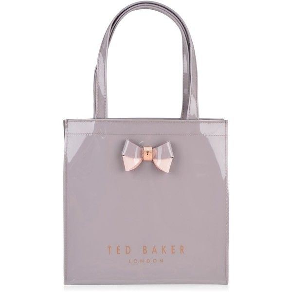 TED BAKER Minacon Shopper Bag (£29) ❤ liked on Polyvore featuring bags, handbags, tote bags, leather shopper, structured leather tote, shopping bag, purple leather tote and leather tote shopper