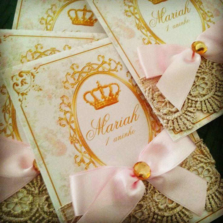 Convite Luxo Realeza