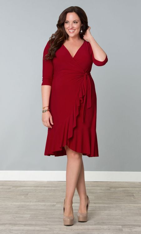 Whimsy Wrap Dress in Red-y for Love