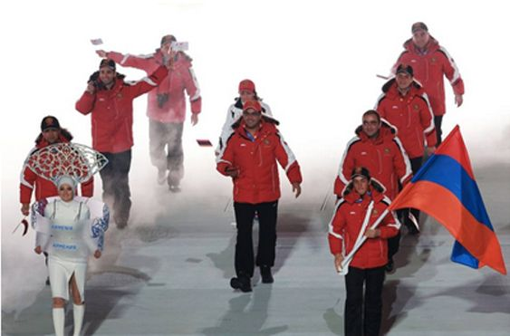 Team Armenia Marches at Olympics Opening Ceremony | Asbarez Armenian News