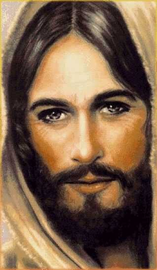 rostro de cristo jesus - Buscar con Google Wow! This is how I picture Jesus.  Manly with intense eyes.