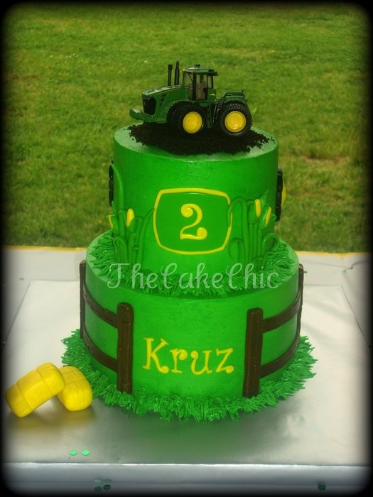 John Deere cake might be a good idea for Cameron's birthday since he's into the country boy scene right now