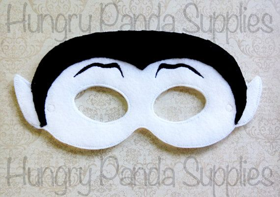 Make a spooky & unique mask this Halloween with this Vampire mask digital embroidery design!    You will receive two sizes of this design: