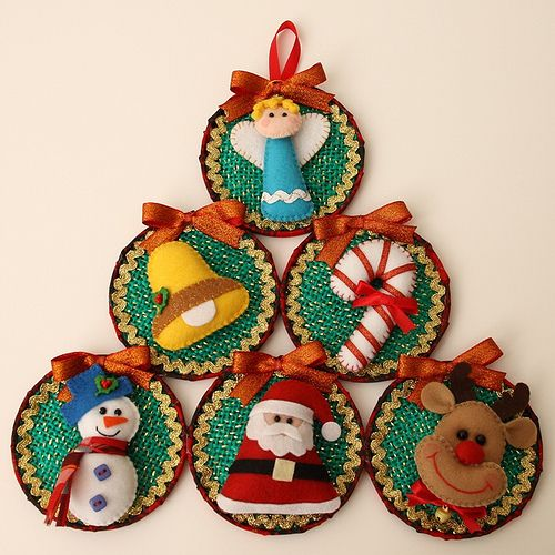 187 best cd decorado images on pinterest christmas crafts christmas ornaments and felt fabric - Cd decorados de navidad ...