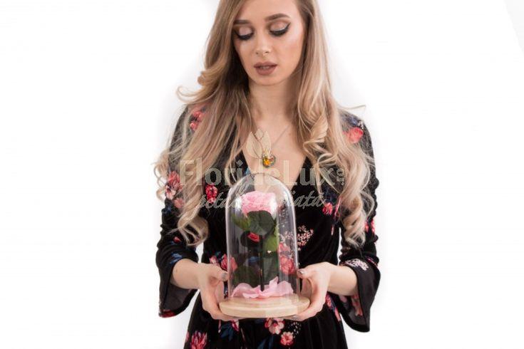 Cupola Luxury Lady contine un trandafir roz pudrat, cu tulpina si frunze. Este un cadou elegant si feminin. Trandafirul din cupola este criogenat si rezista pana la 25 de ani! Comanda online cupola Luxury Lady la discount: https://www.floridelux.ro/cupola-luxury-lady.html