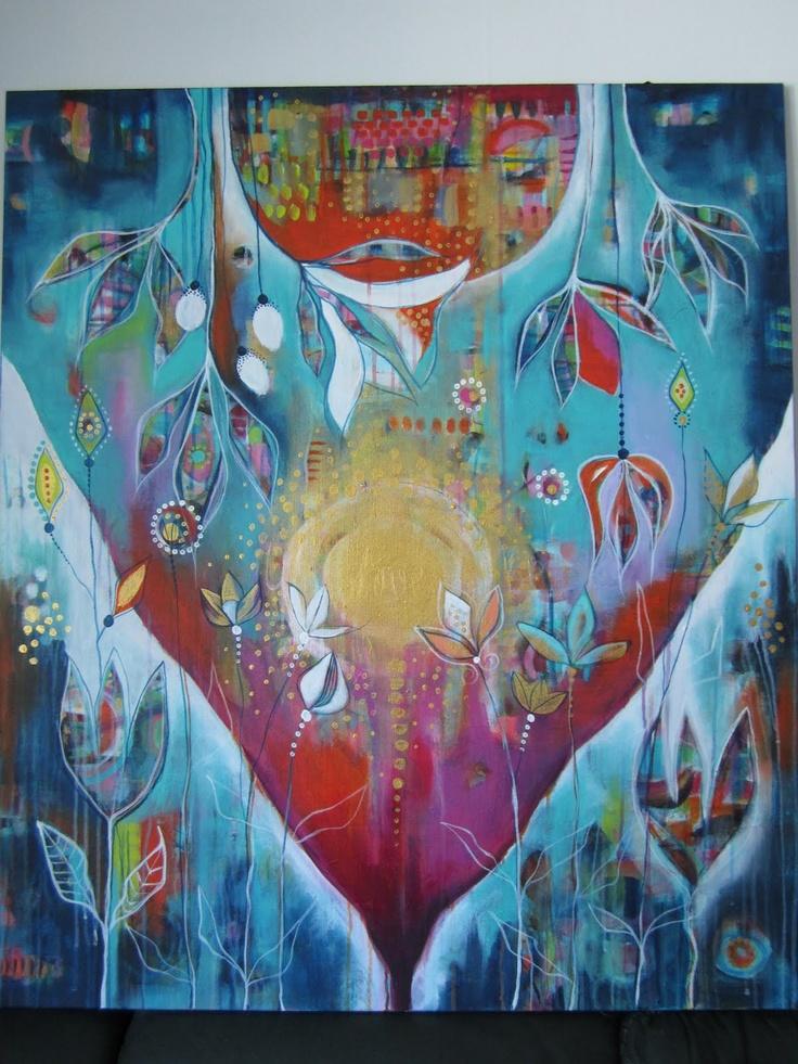 Johanna Virtanen Acrylics 100x116cm   2012  http://johanna-virtanen.fineartamerica.com/
