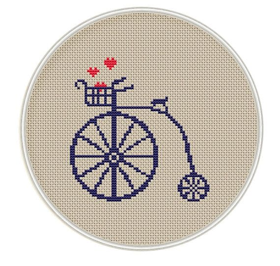 Bicycle Сross stitch pattern Instant Download by MagicCrossStitch
