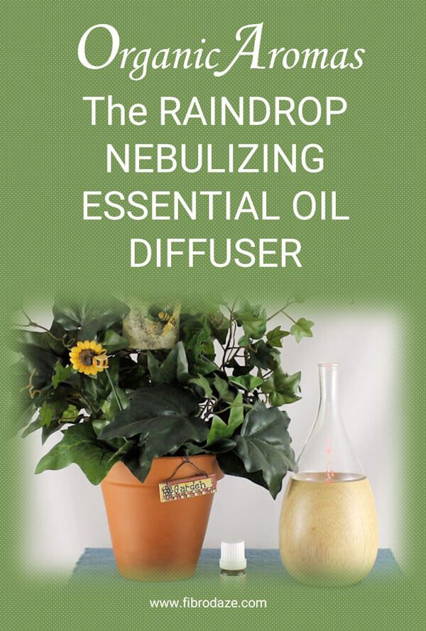 The Raindrop Nebulizing Essential Oil Diffuser By Organic Aromas