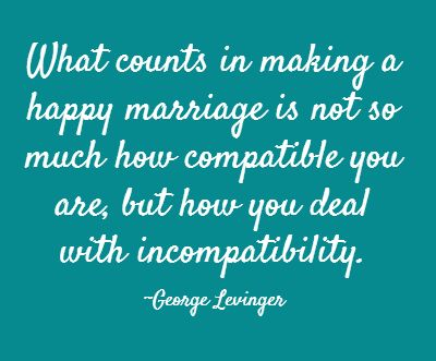 Make sure you re compatible marriage