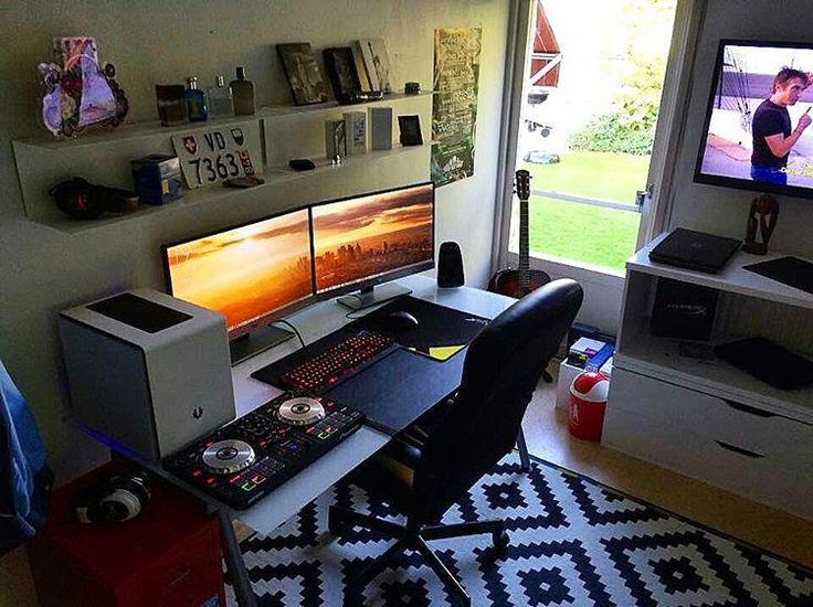 Sent To Us By Ludvigwestrom Pc Setup Monitors 2x Aoc