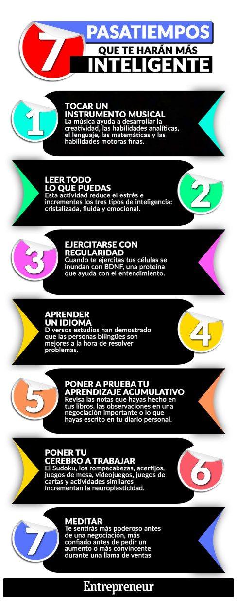 Infografía: 7 pasatiempos que te harán más inteligente – Yavia Noticias