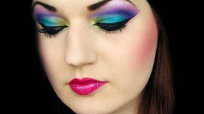 Egzotik Ve Renkli Arap Göz Makyajı Tekniği - Özel günler veya gece için yapabileceğiniz egzotik ve renkli arap göz makyajı uygulaması (Colorful Arab Makeup Video)