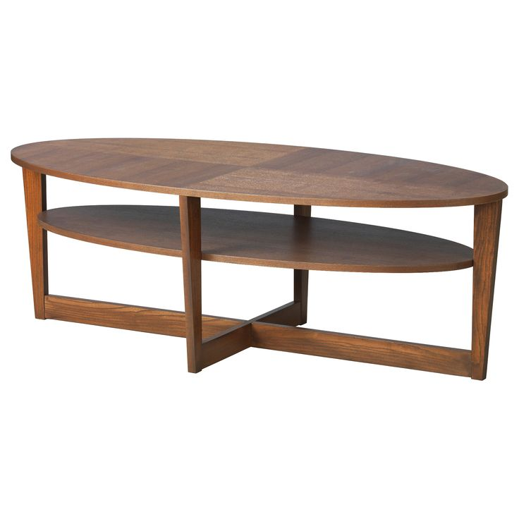 IKEA - VEJMON, Coffee table, brown, , Separate shelf for magazines, etc. helps you keep your things organized and the table top clear.Less risk of children hitting their head as the table has rounded corners.