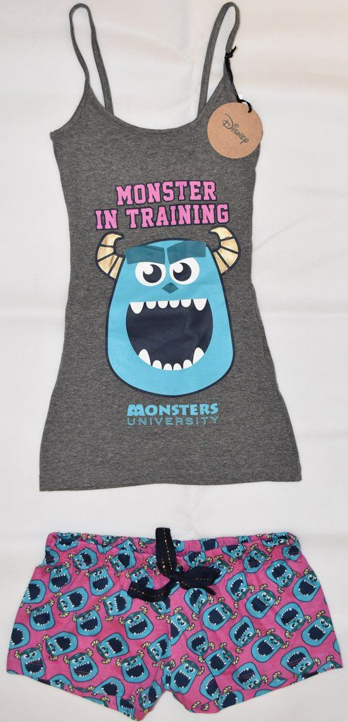 PRIMARK Monsters Inc University Vest & Shorts Set PJ PYJAMAS UK Sizes 4 - 20 NEW