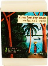 Original Pure Soap (Unscented): Hand-crafted unscented original pure shea butter soap. http://www.africanfairtradesociety.com/product/original-pure-soap-unscented/