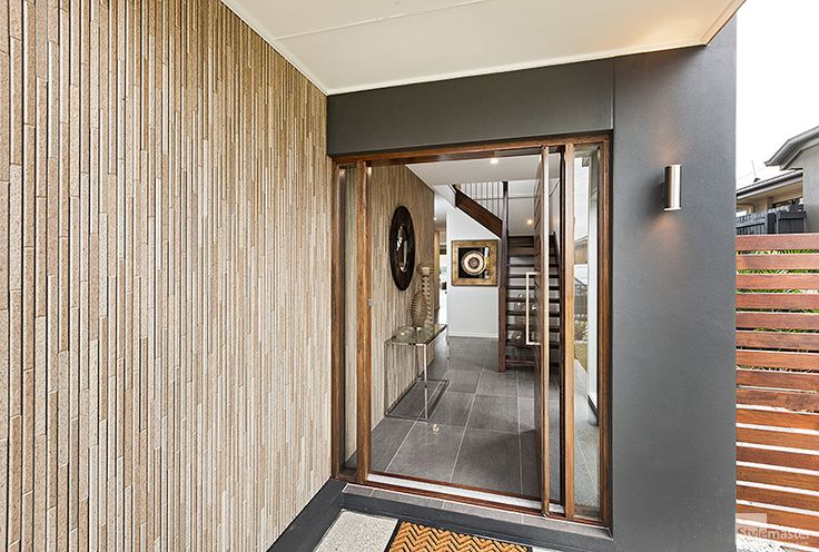 Entry way in the Milan by Stylemaster Homes