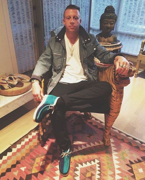 Macklemore In Custom Clarks Wallabees By Sycamore Style