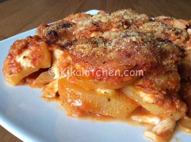 Patate alla pizzaiola con mozzarella   Kikakitchen