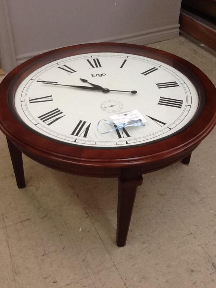 Clock Coffee Table From The Millionaire 39 S Daughter Consignment Inventory Pinterest