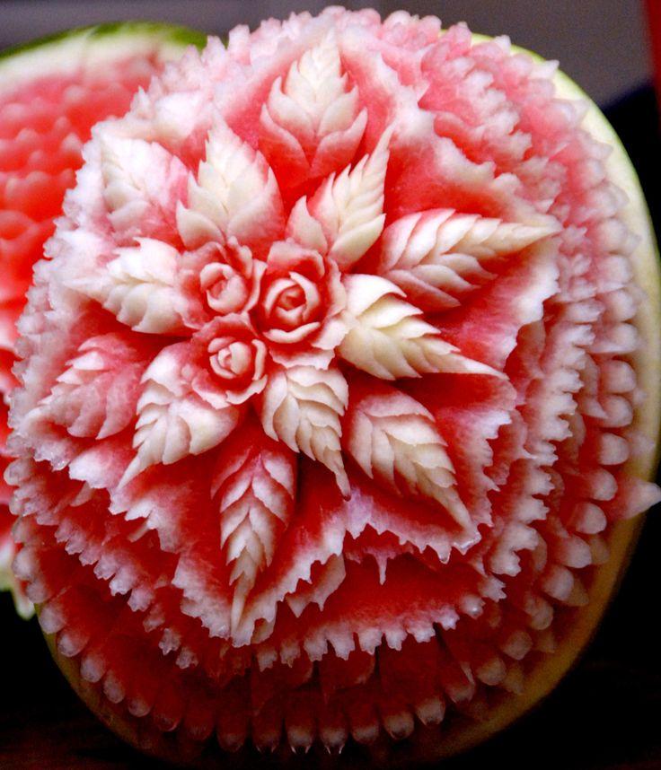 Watermelon centerpiece ideas shoe carving by